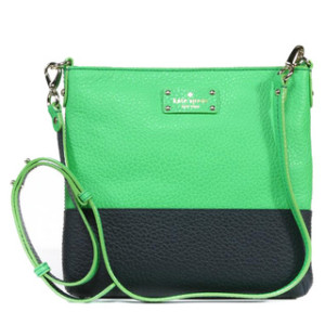 Kate Spade 'Grove Court Cora' Shamrock and Truenavy Leather Crossbody | Breezing Through