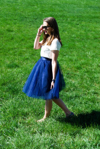 Navy Tulle | Breezing Through 11