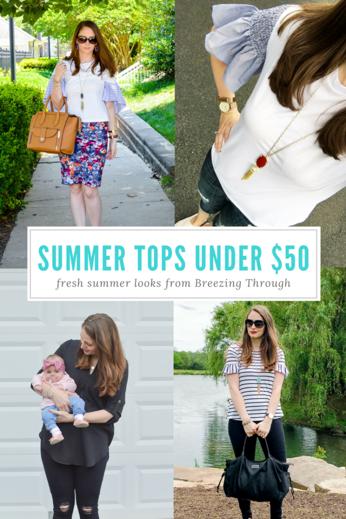 Summer Tops Under $50 & A LipSense Giveaway
